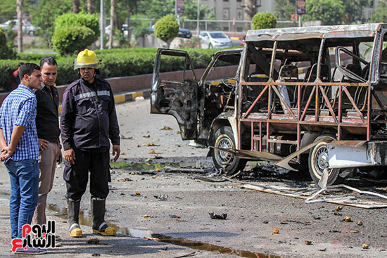 انفجار سيارتين فى مطلع كوبرى اكتوبر (45)