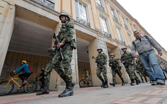 قوات الجيش الكولومبى
