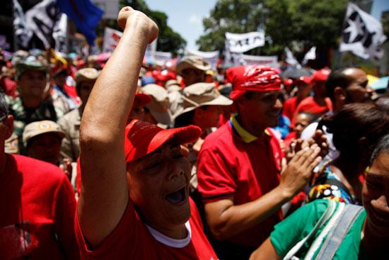 جانب من مسيرات تأييد مادورو