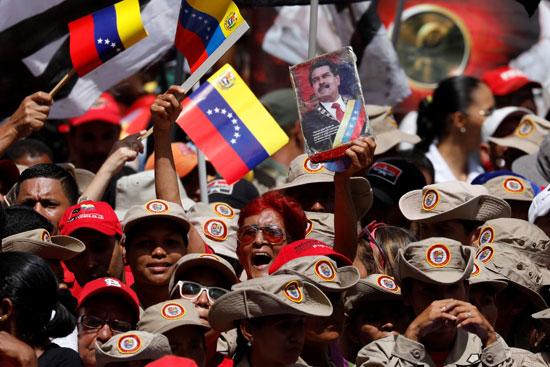 صور مادورو خلال المسيرات