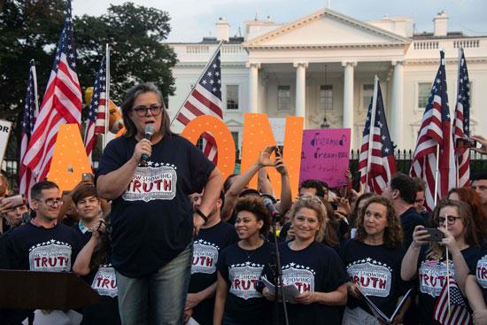 المظاهرات أمام البيت الأبيض