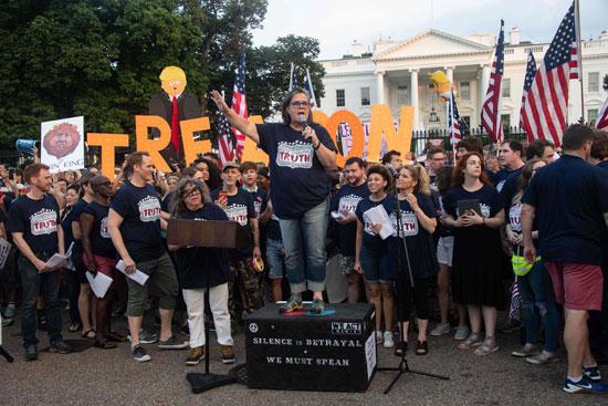 جانب من المظاهرات أمام البيت الأبيض