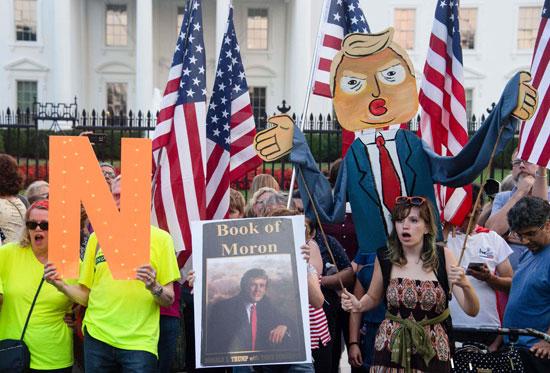 جانب من الاحتجاج