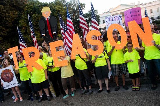 مظاهرة الفنانون أمام البيت الأبيض