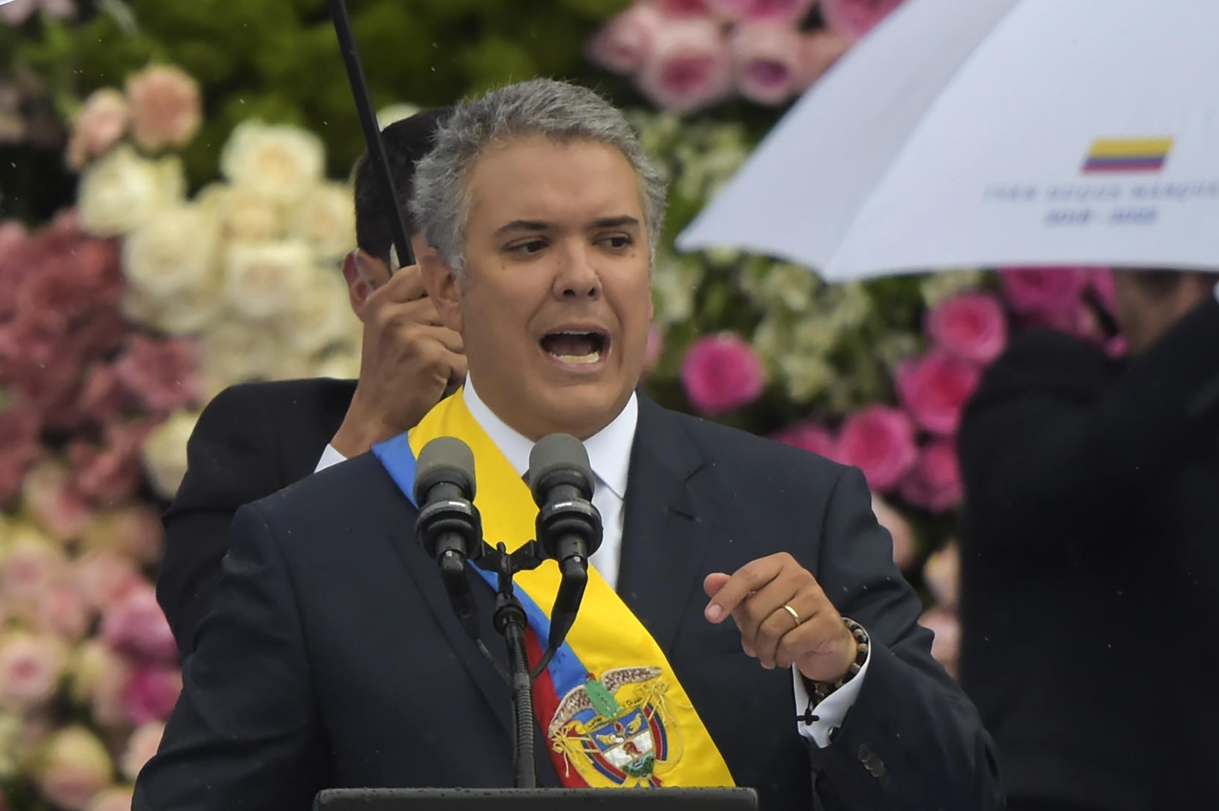 الرئيس الكولومبى إيفان دوكى
