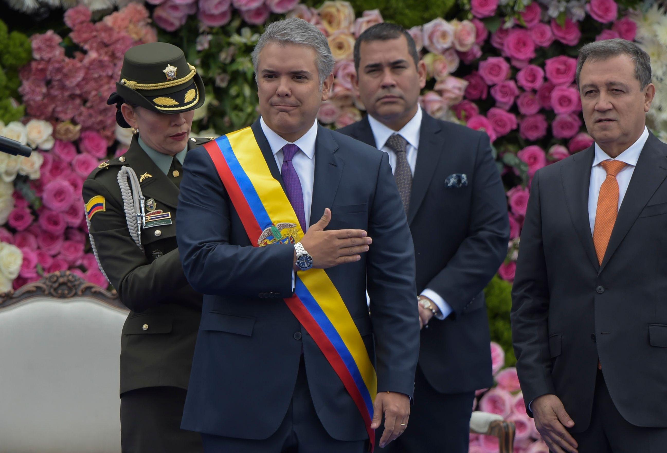 جانب من تنصيب رئيس كولومبيا