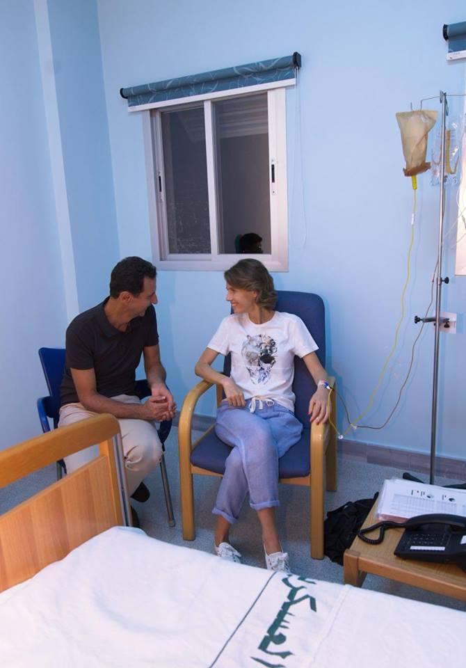 الرئيس السورى بشار الأسد وزوجته فى المستشفى