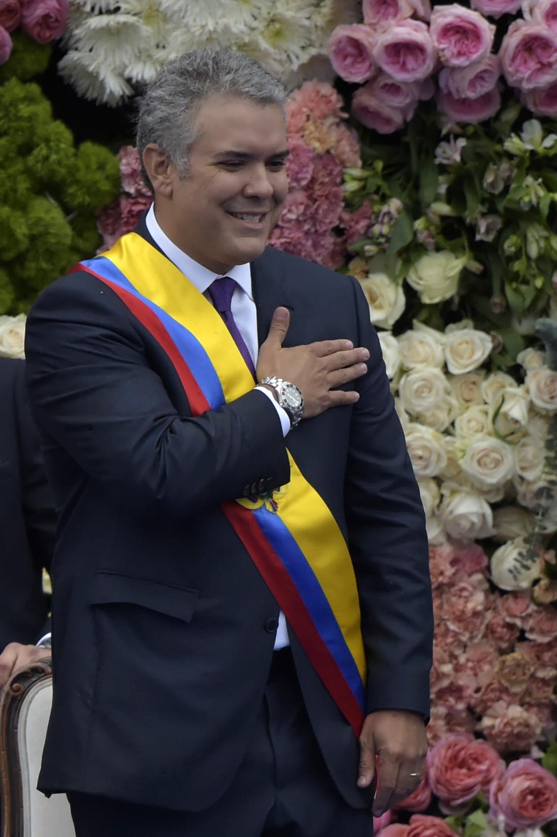 الرئيس الكولومبى المنتخب إيفان دوكى