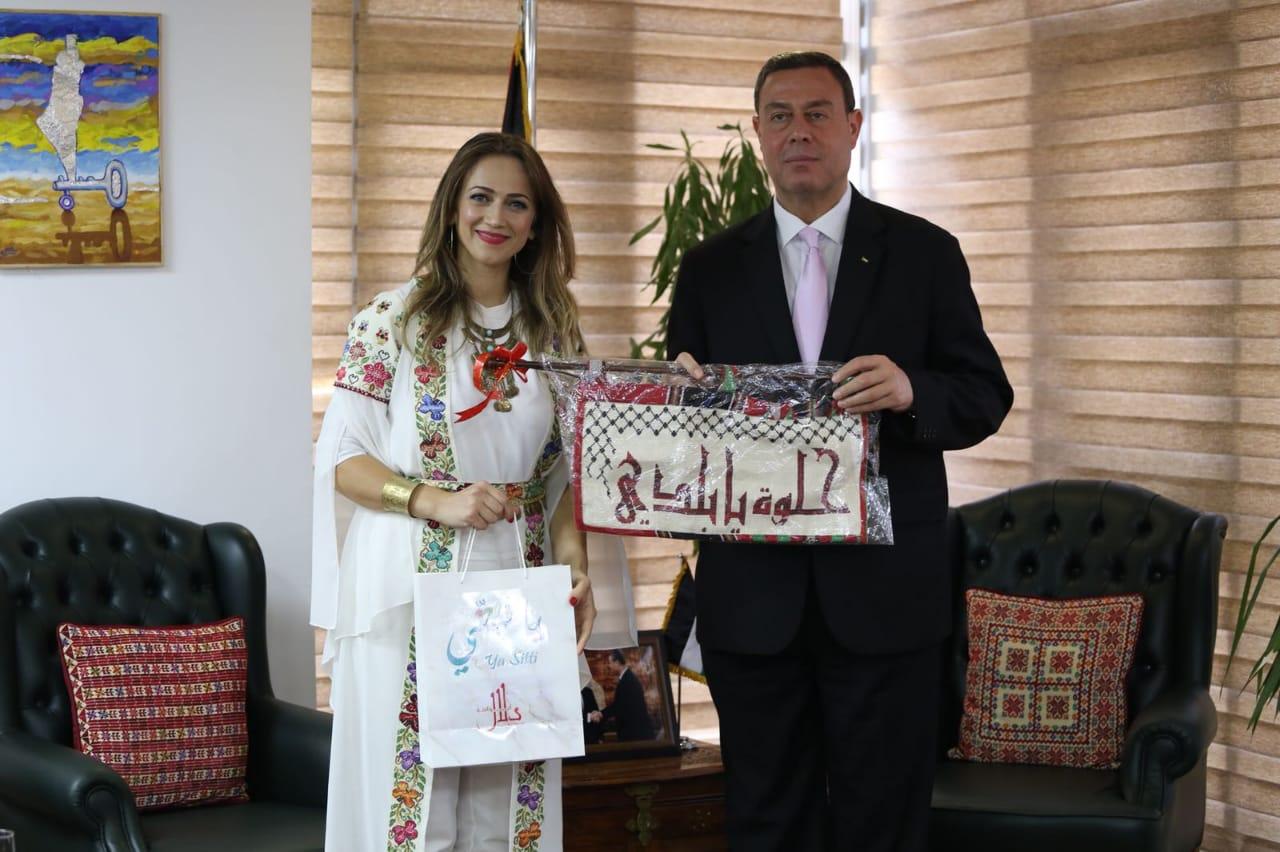 سفارة فلسطين تستقبل دلال أبو أمنة (9)