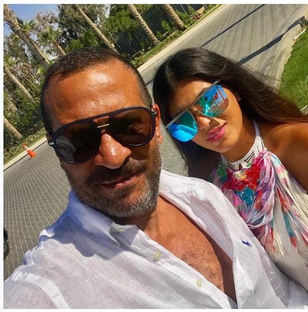 ماجد المصرى وزوجته