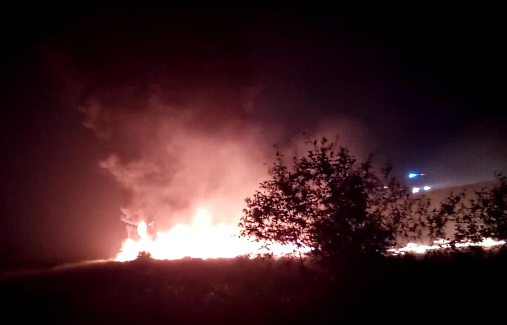 حريق طائرة ركاب فى روسيا