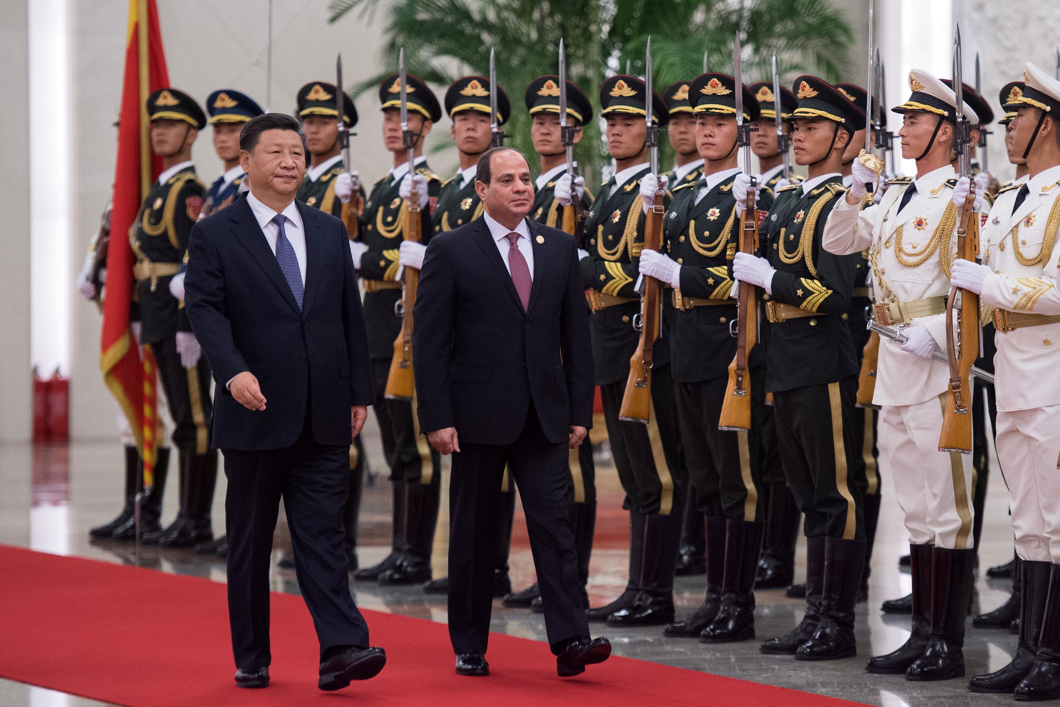 مراسم استقبال رسمية للسيسى فى بكين  (10)