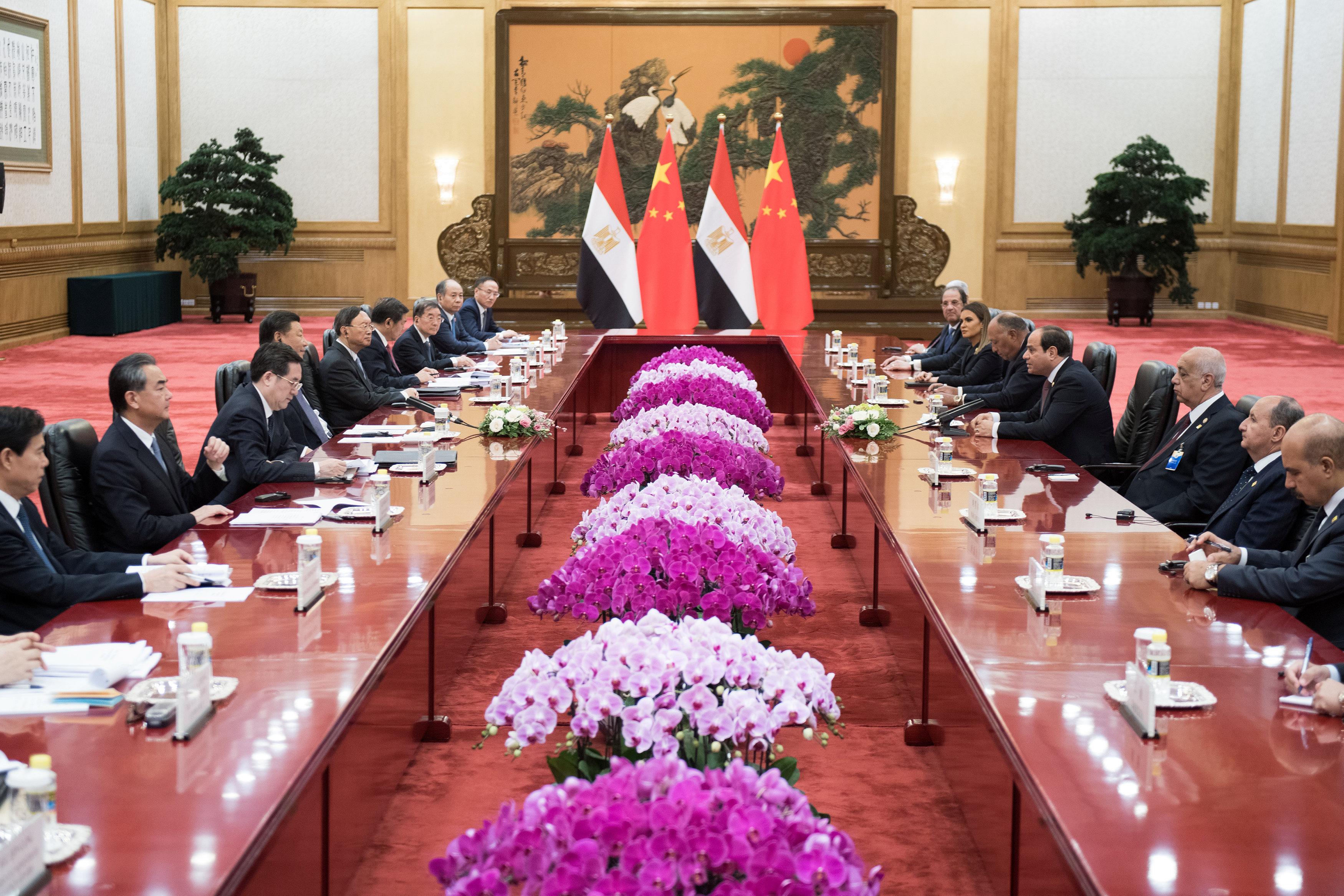 مراسم استقبال رسمية للسيسى فى بكين  (6)