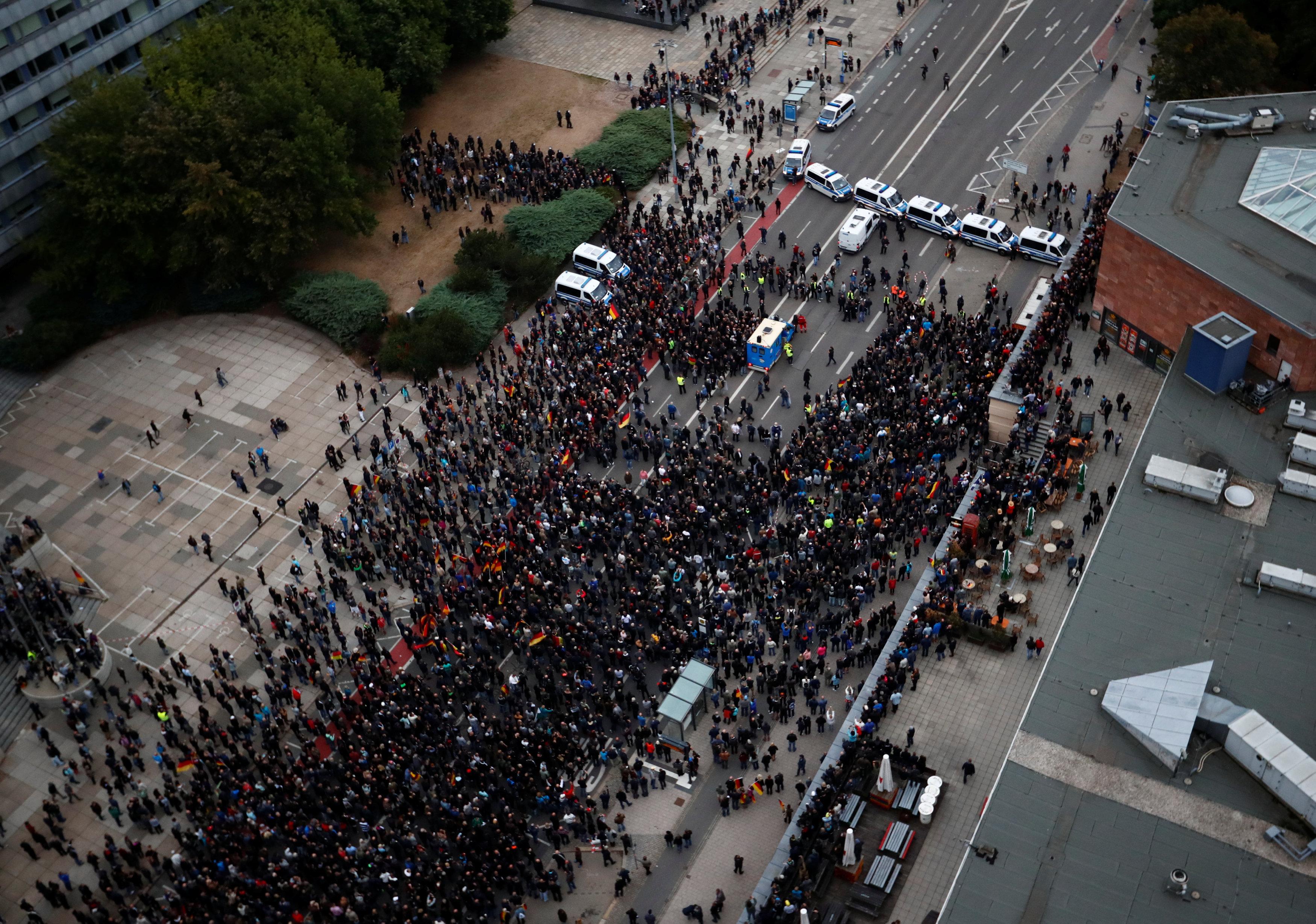 جانب من المظاهرات فى ألمانيا