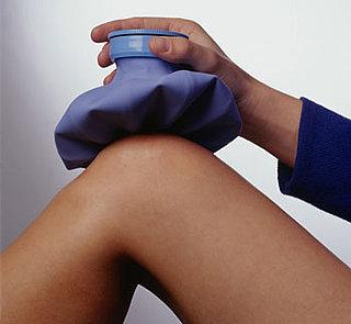علاج شد العضل بوسادة التدفئة