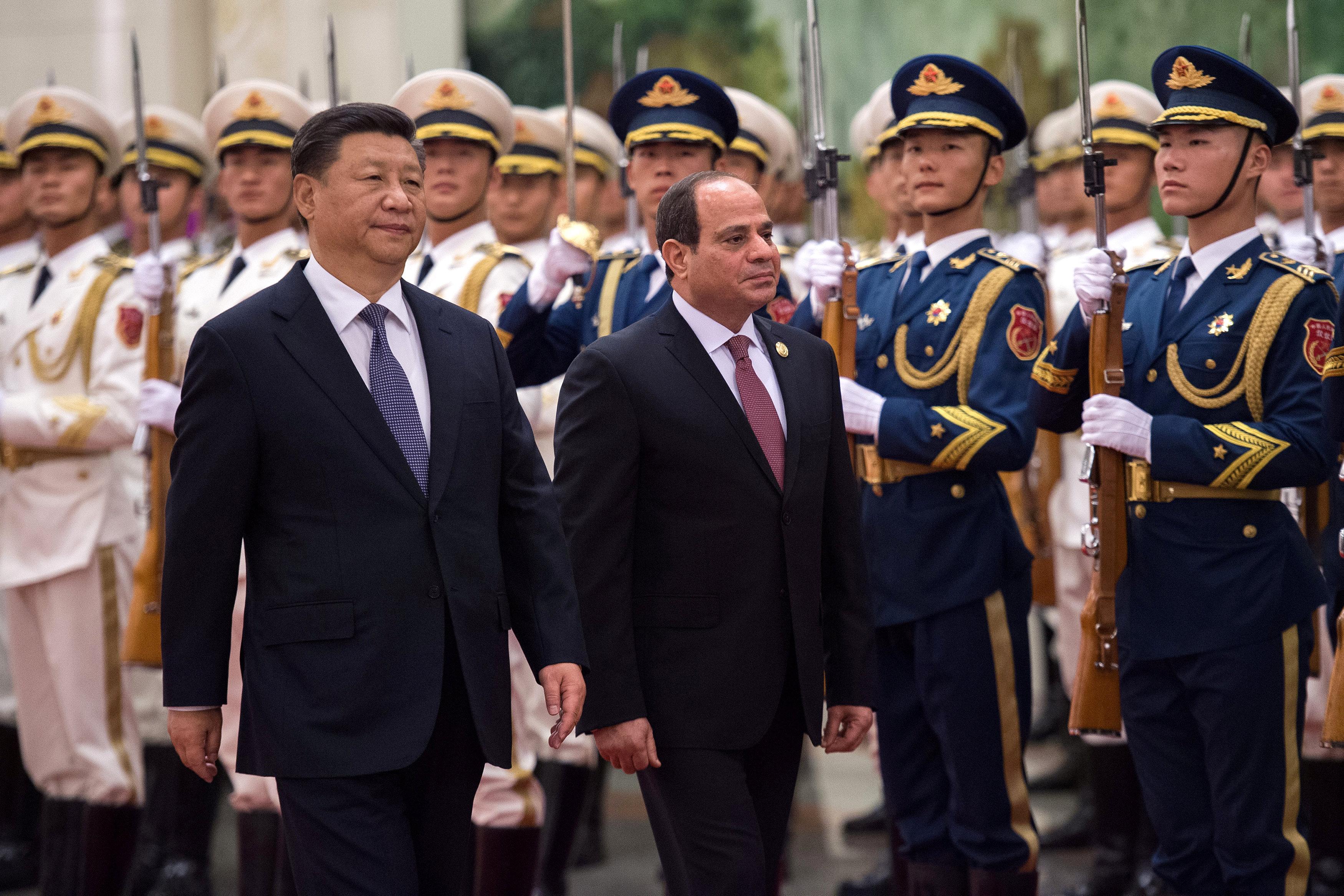 مراسم استقبال رسمية للسيسى فى بكين  (9)