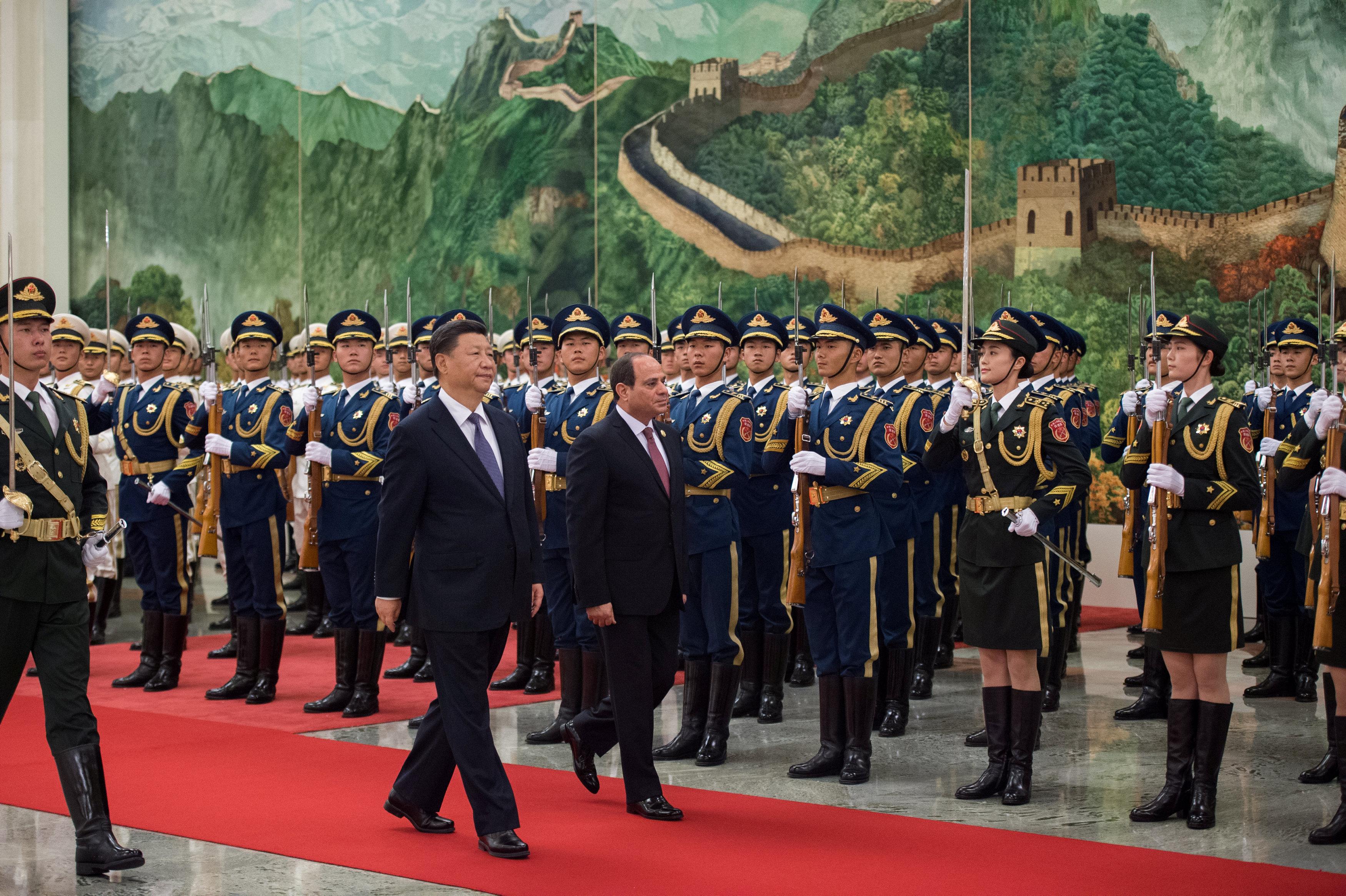 مراسم استقبال رسمية للسيسى فى بكين  (2)