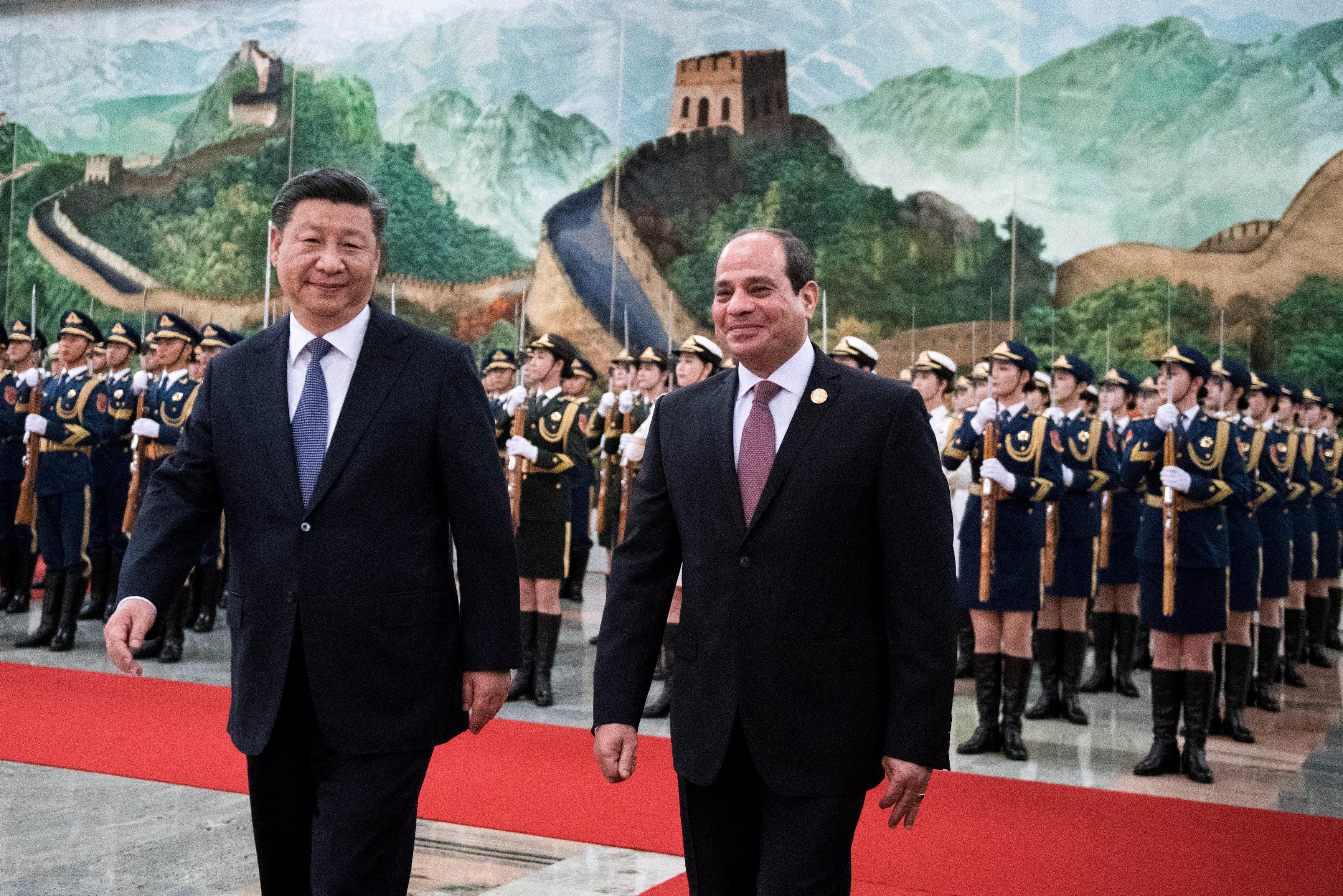 مراسم استقبال رسمية للسيسى فى بكين  (5)