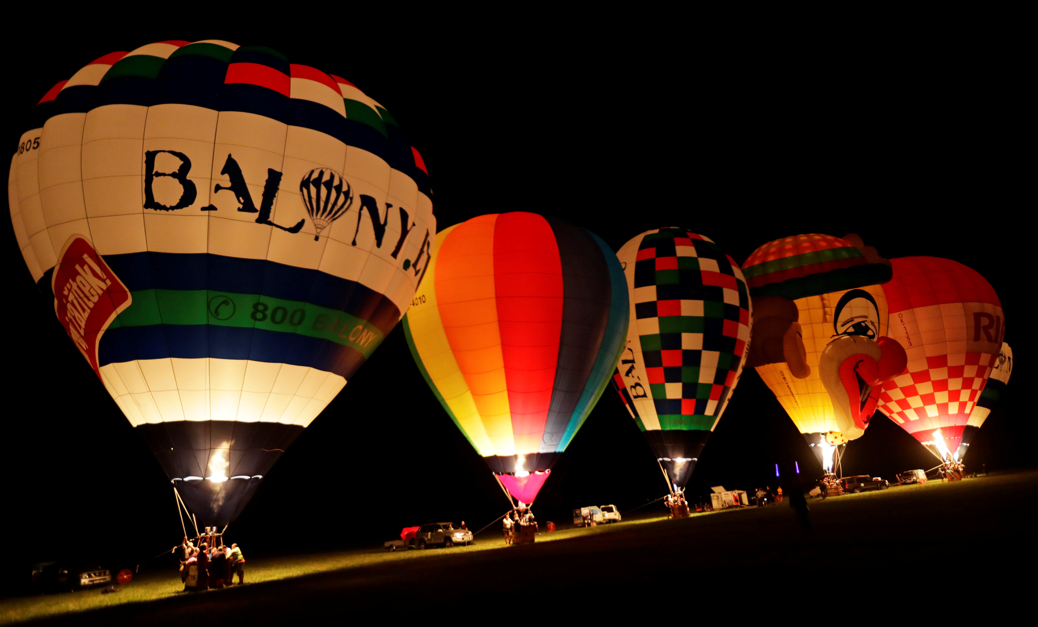 عدد من البالونات الساخنة
