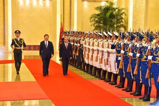 مراسم-استقبال-رسمية-للسيسى-فى-بكين--(4)