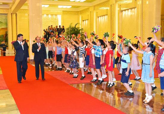 مراسم-استقبال-رسمية-للسيسى-فى-بكين--(2)