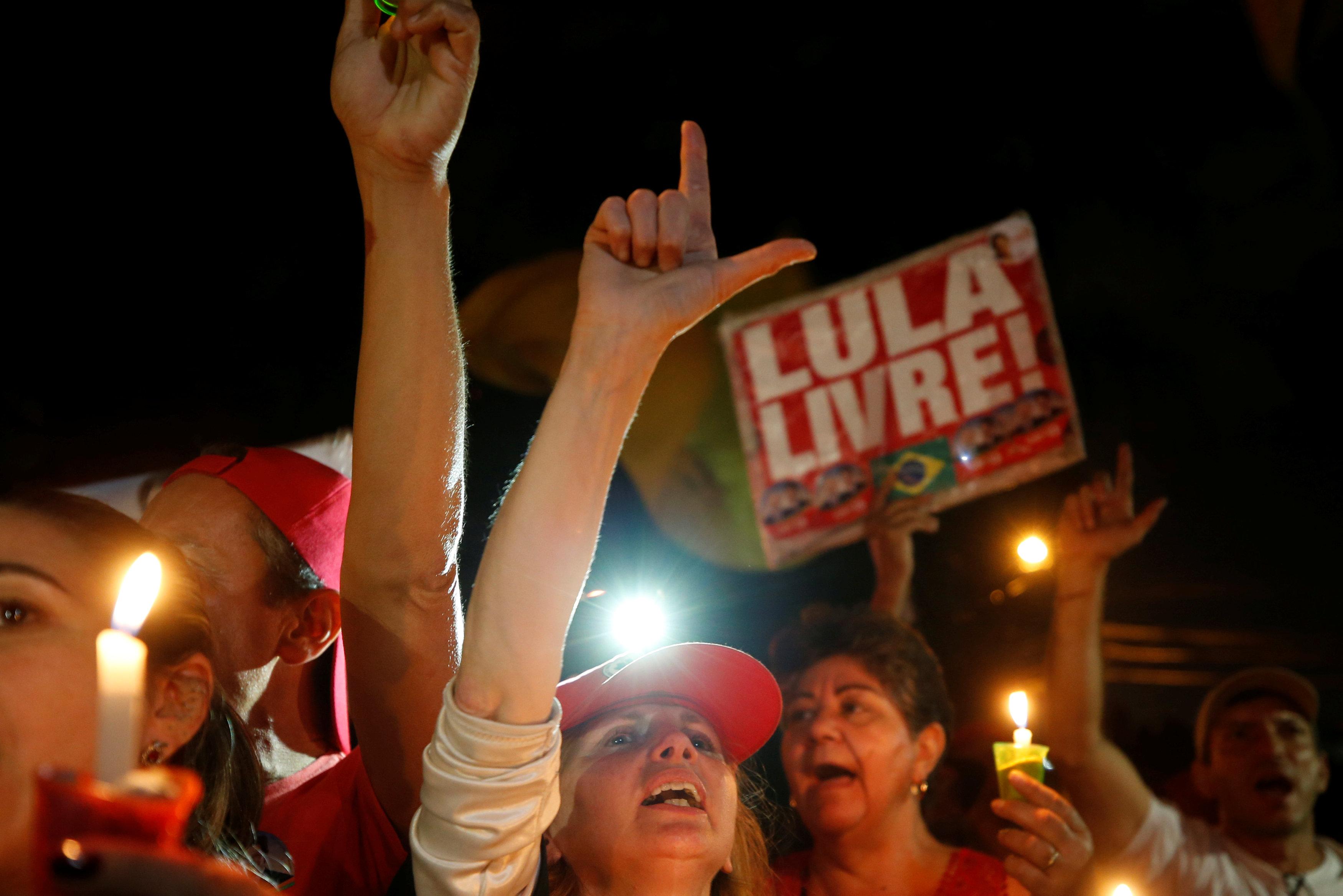 مؤيدى رئيس البرازيل الأسبق يحتجون