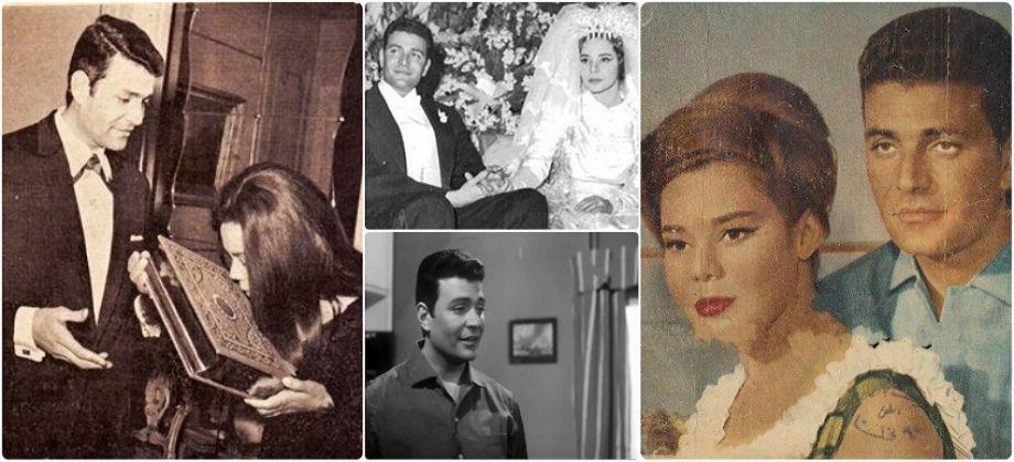 الفنان إيهاب نافع وزوجته ماجدة الصباحى