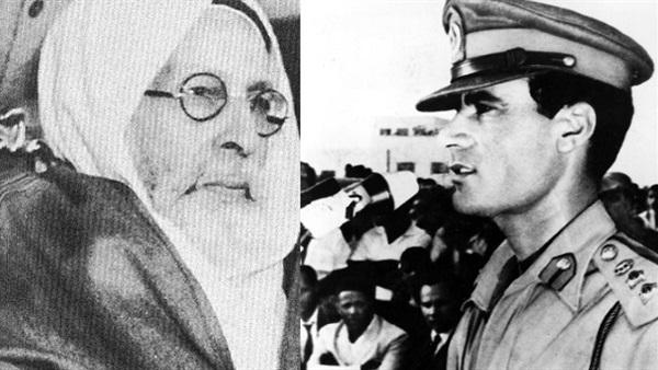 قائد الثورة الليبية والملك السنوسى