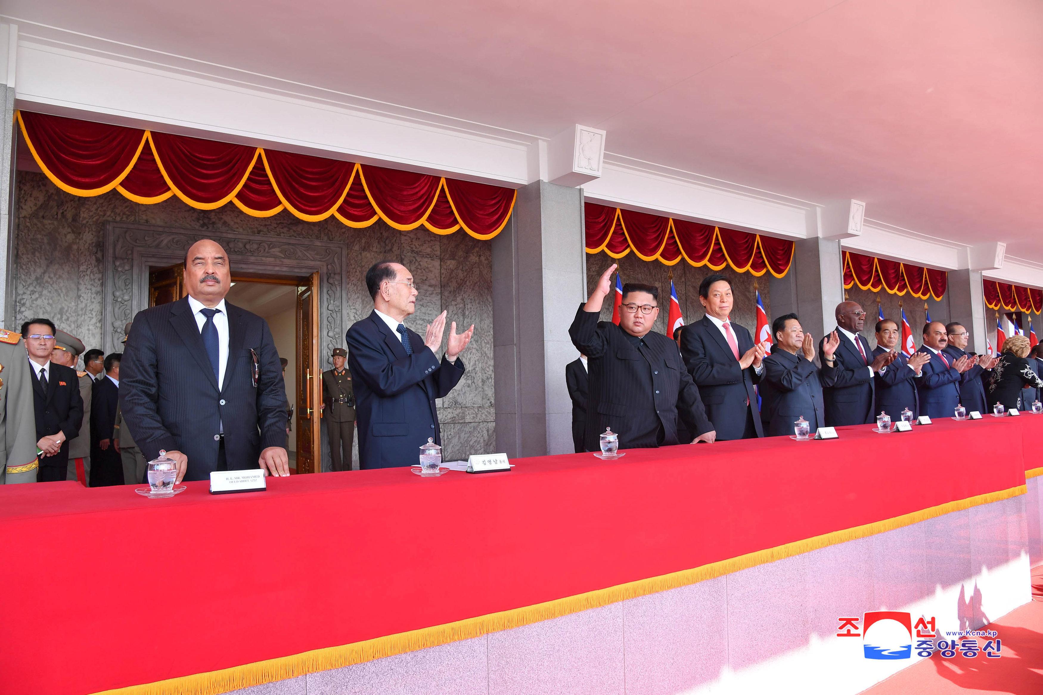 زعيم كوريا الشمالية أثناء حضوره احد الفعاليات