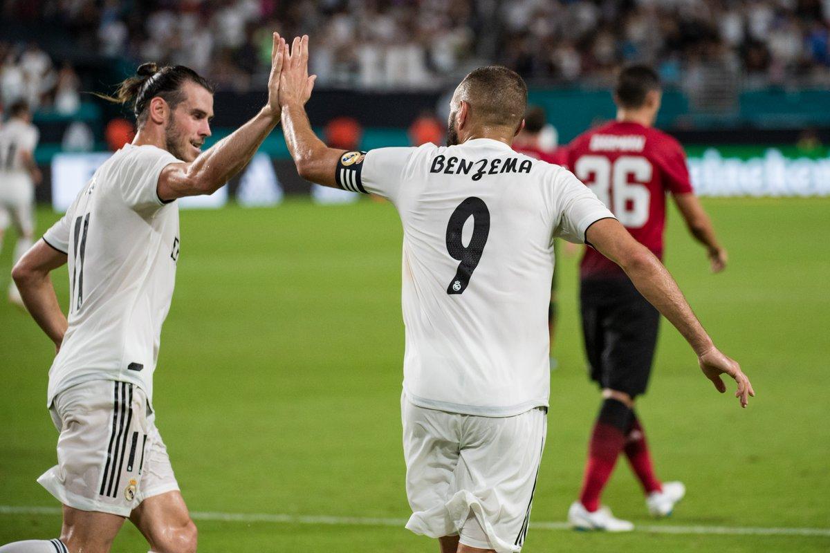بنزيما وبيل ثنائى هجوم ريال مدريد