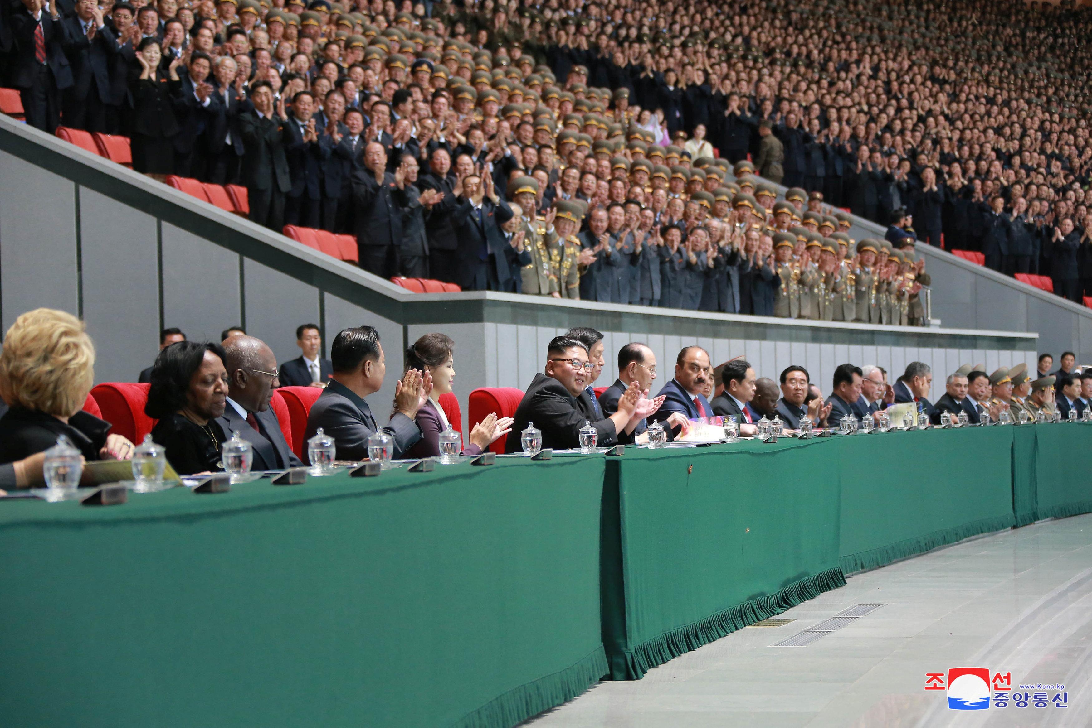 احتفال مجلس الدولة الكورى الشمالى