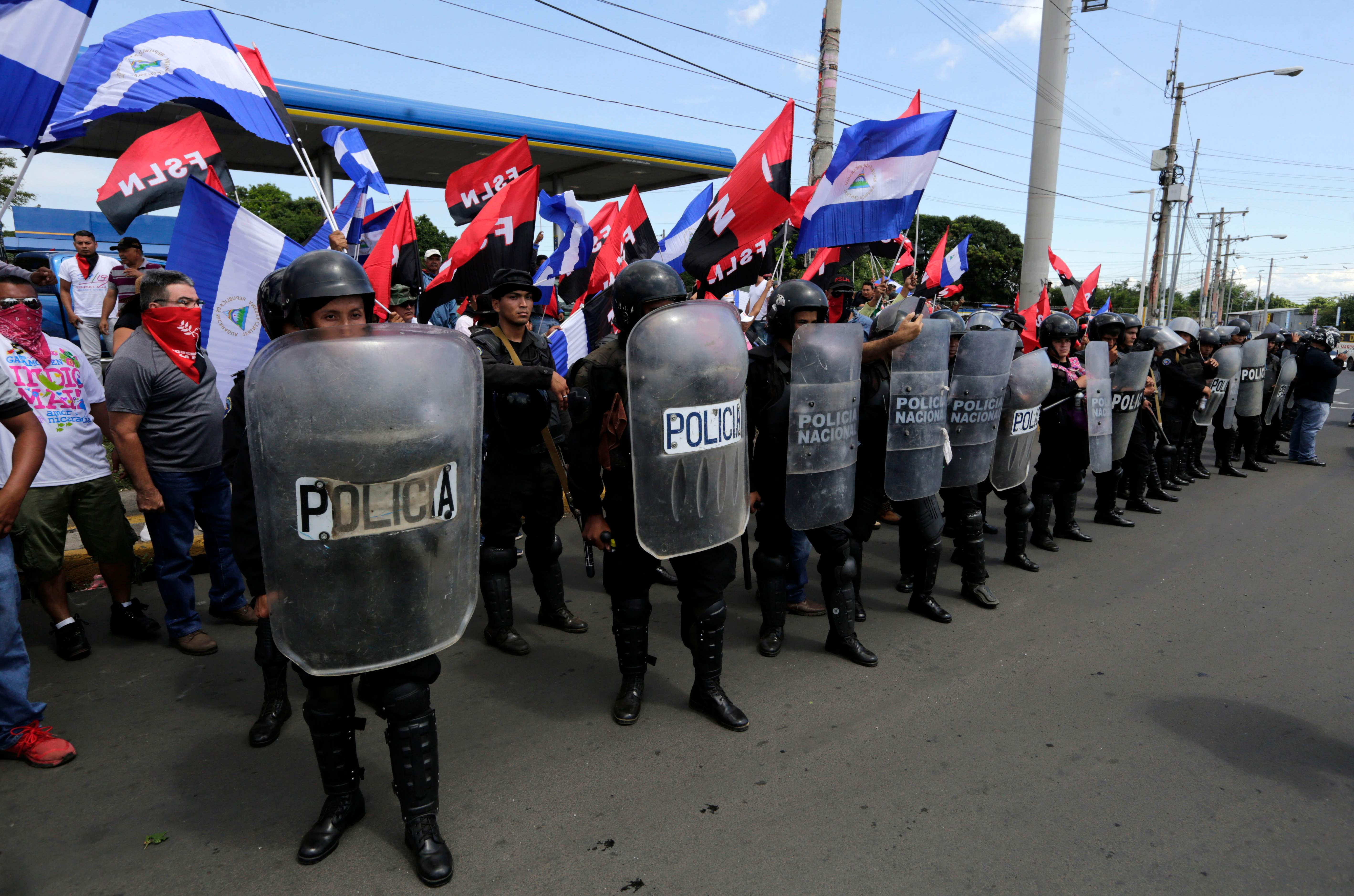 قوات الأمن فى نيكاراجوا