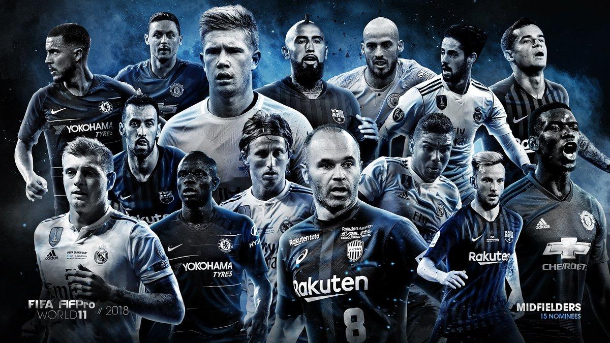 قائمة لاعبو الوسط المرشحين