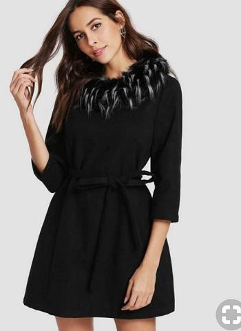 أزياء ـ فساتين مع الفرو (1)