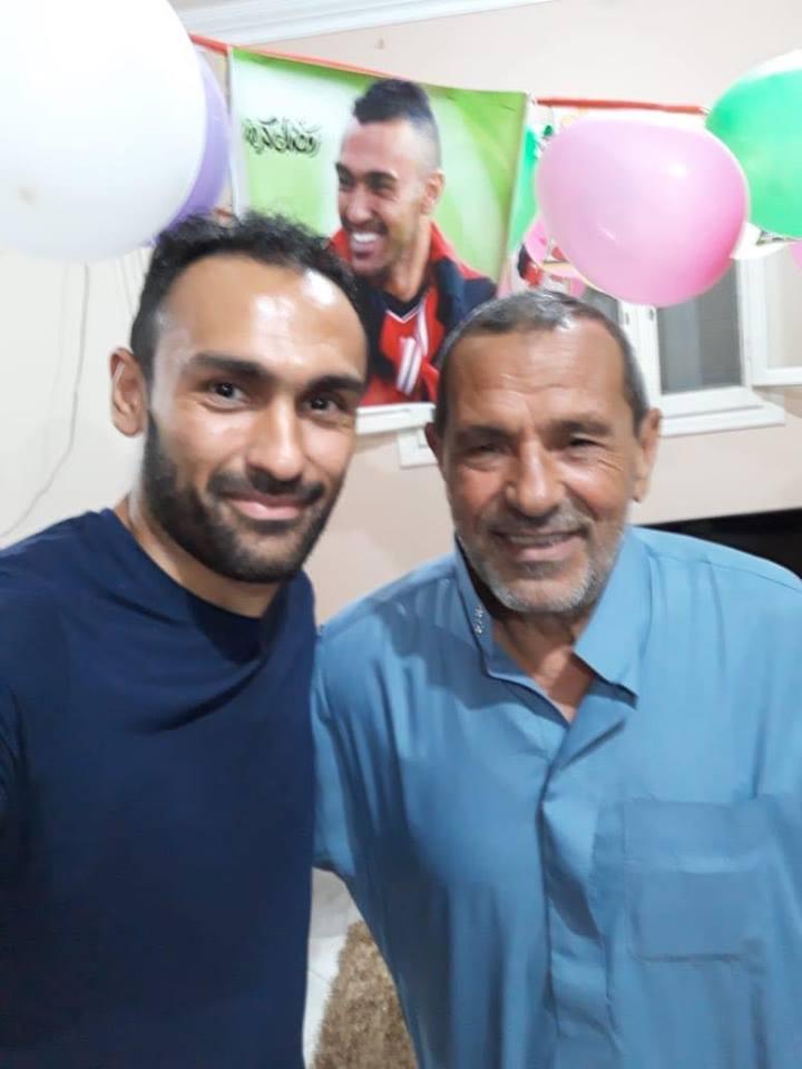 أحمد المحمدى مع والده