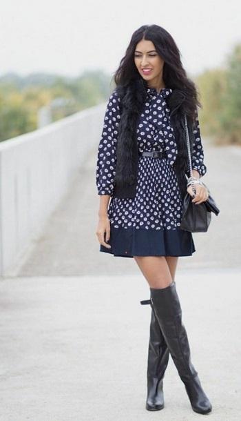 أزياء ـ فساتين مع الفرو (3)
