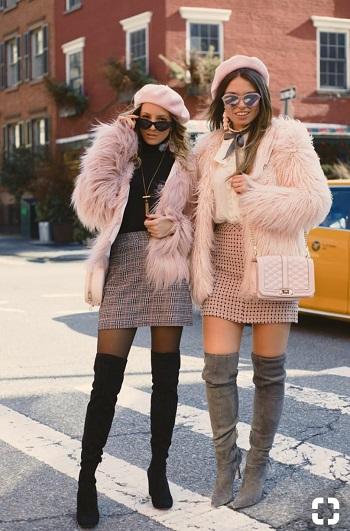 أزياء بالفرو مناسبة للنهار