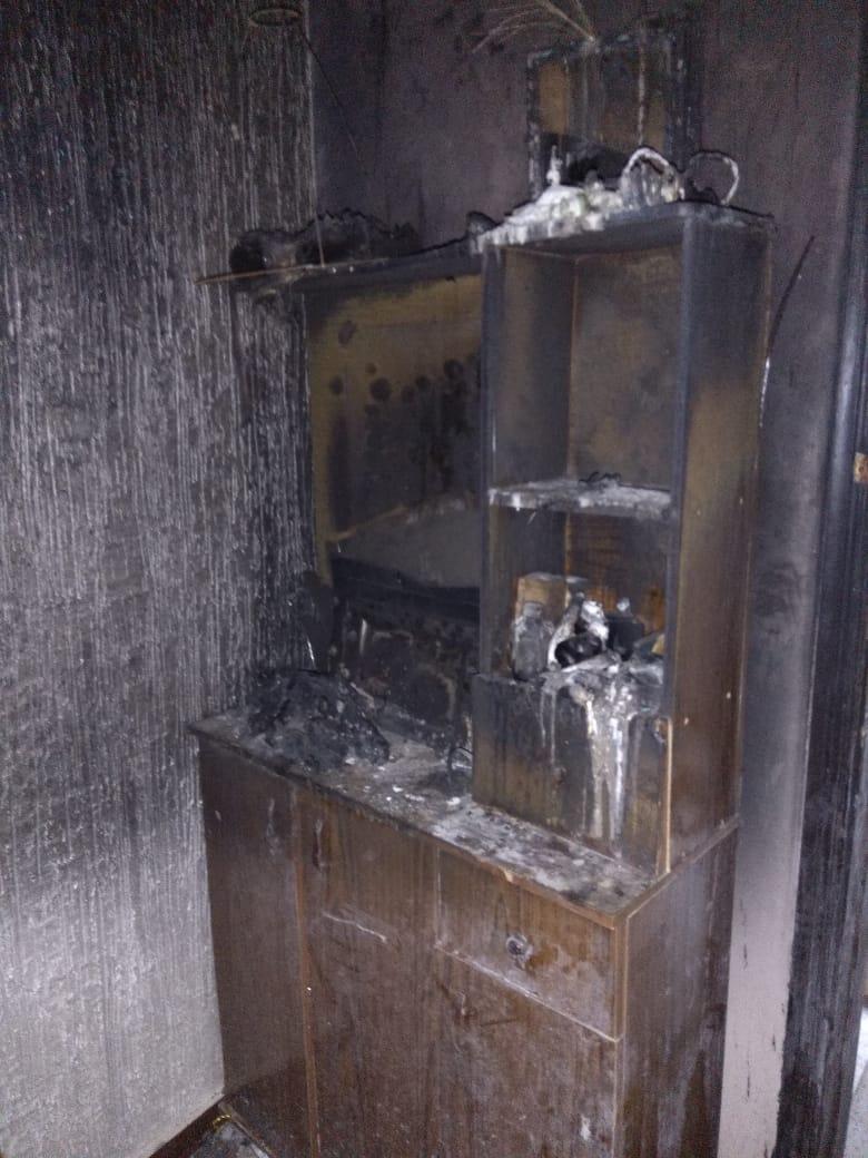 النيران التهمت كافة المحتويات