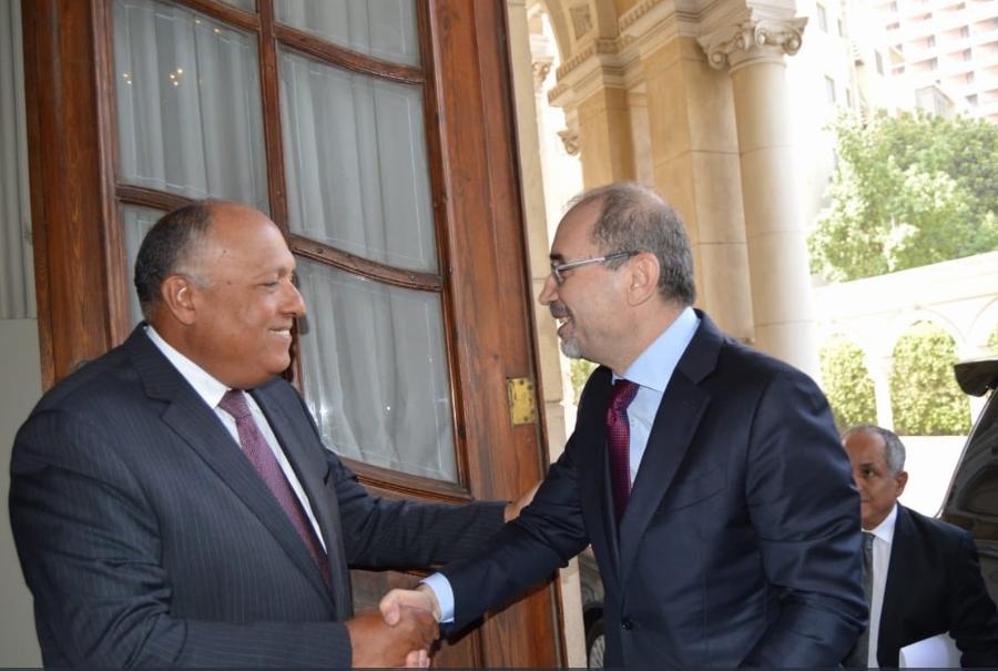وزير الخارجية المصرى ونظيره الأردنى