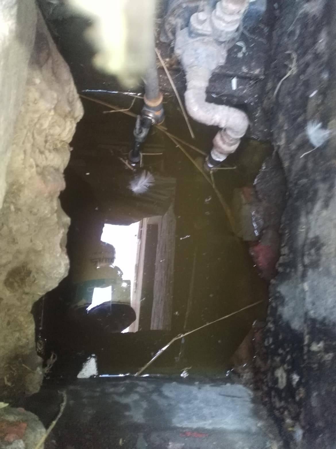 غرق المنزل بيماه الصرف الصحي