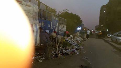 القمامة بشارع غرب السكة الحديد بعين شمس (1)