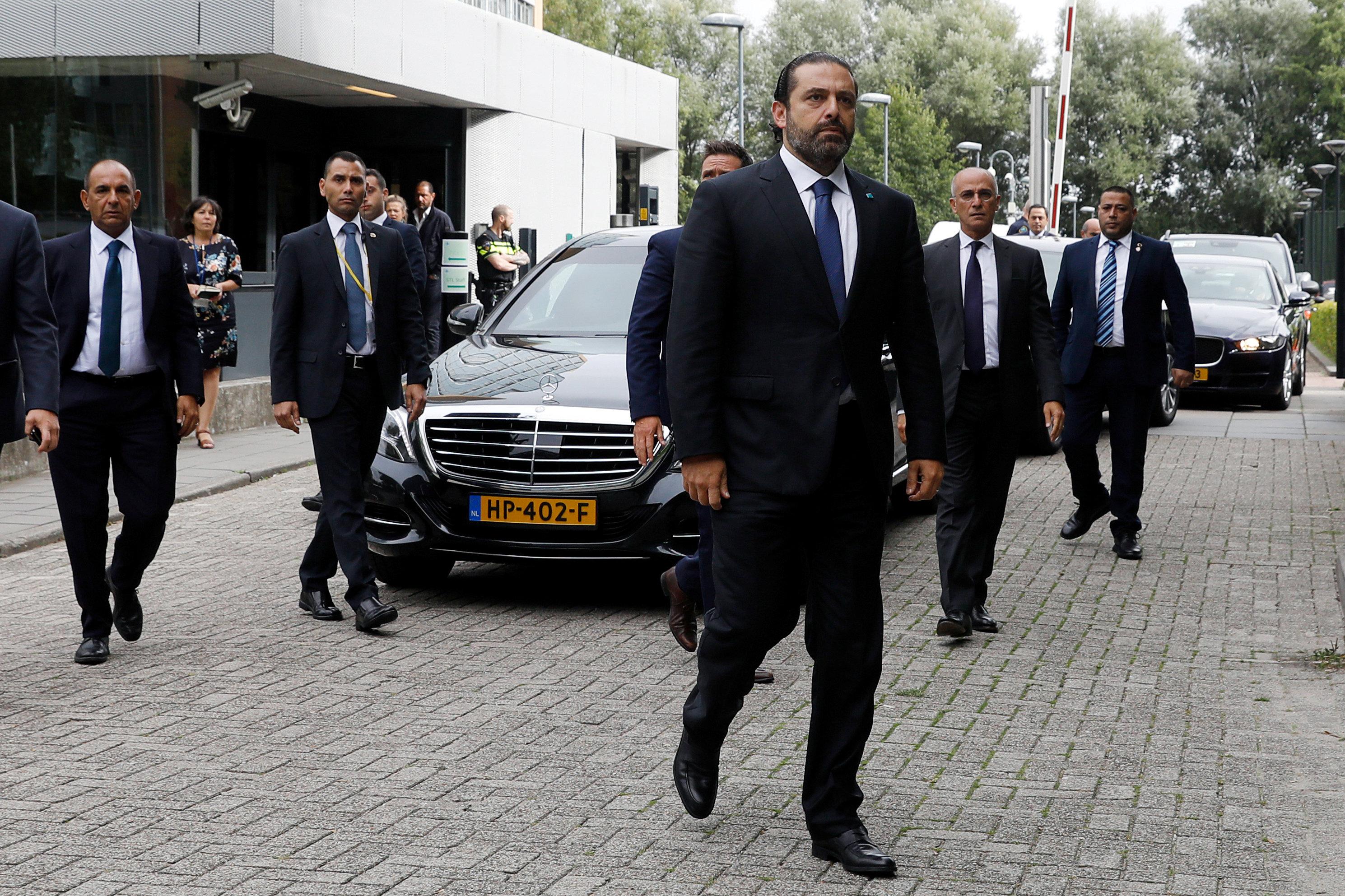 وصول سعد الحريرى للمحكمة