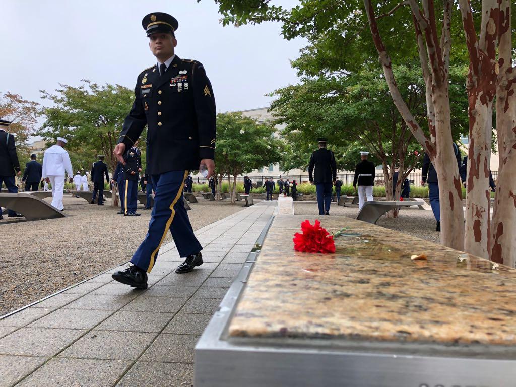 نصب البنتاجون لإحياء ذكرى 11 سبتمبر  (9)