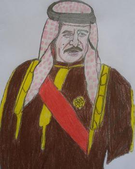 لوحة للطفلة لملك البحرين