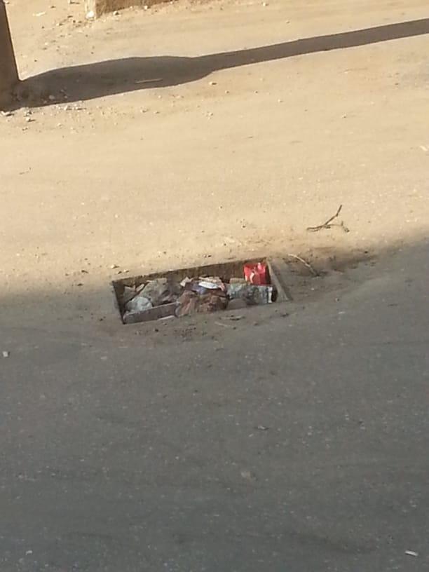 بالوعة مكشوفة بمدينة أجا