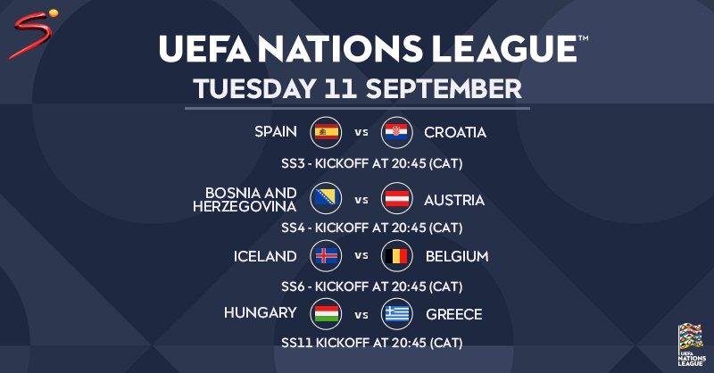 مباريات اليوم في دوري الأمم الأوروبية
