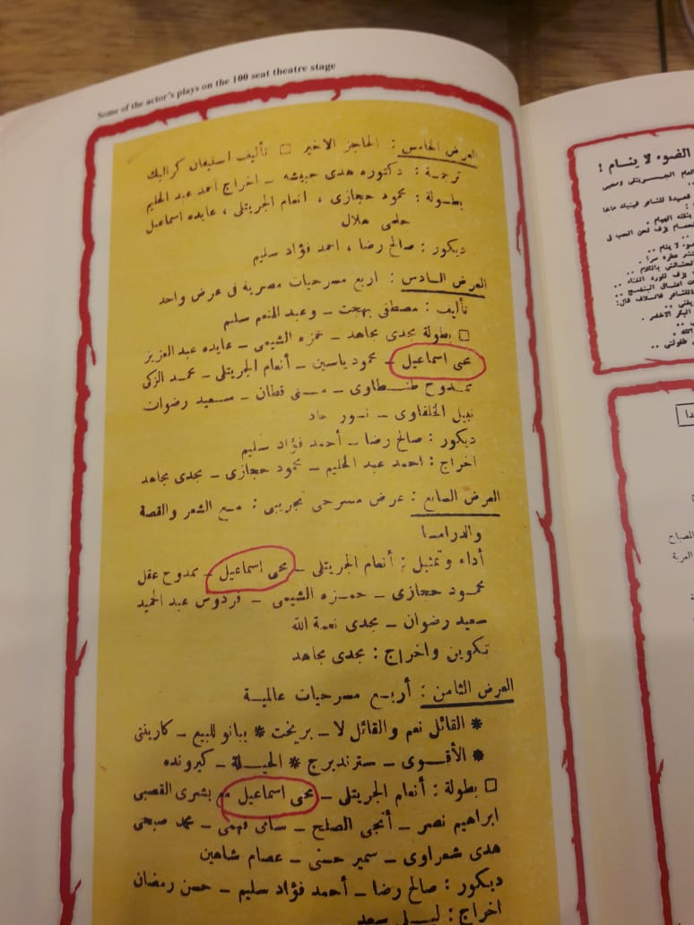 وثائق تؤكد ريادة الفنان محي اسماعيل في التجريب في المسرح  (6)