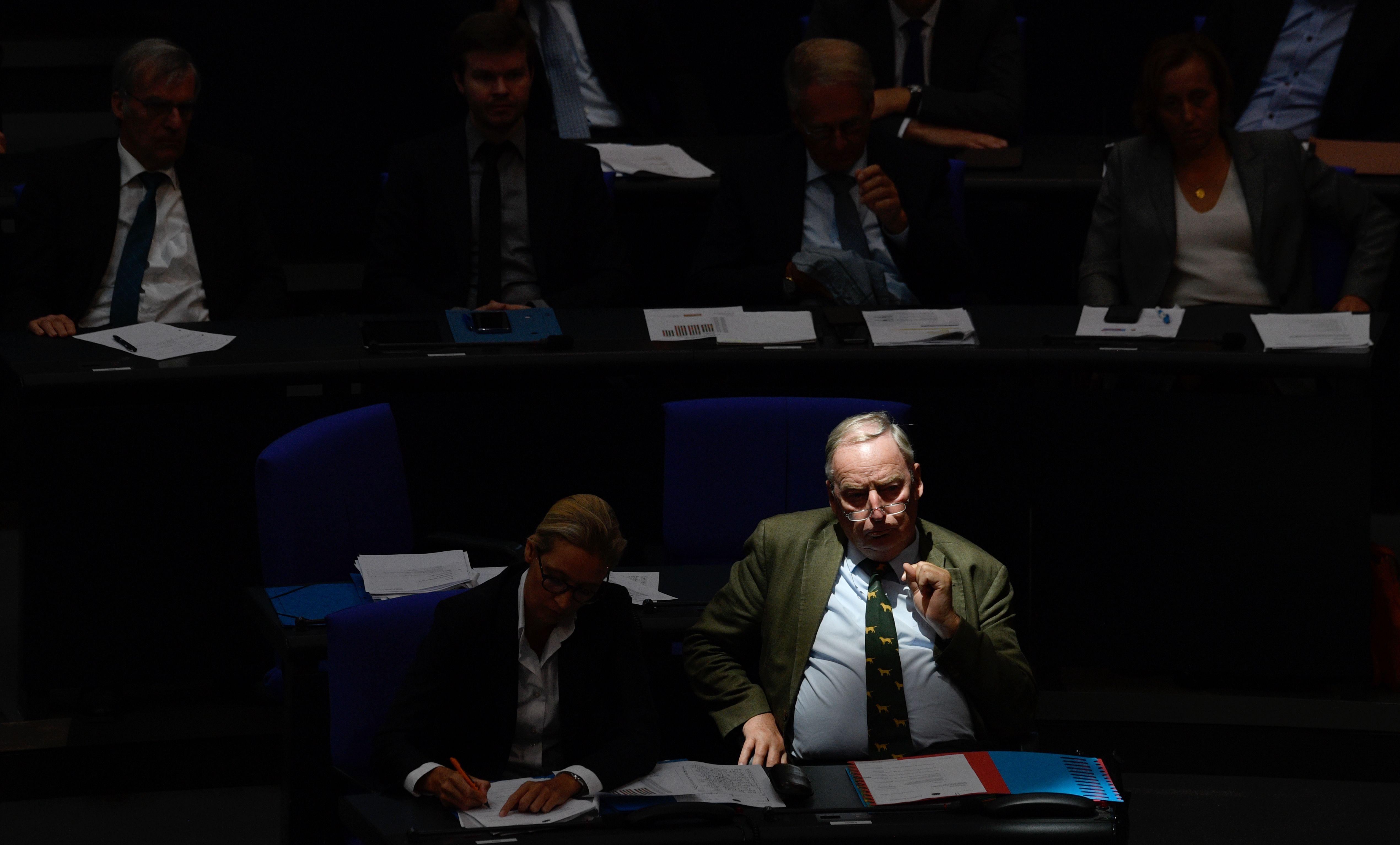 الكسندر غولاند وأليس فيدل في جلسة حول ميزانية ألمانيا لعام 2019 فى البرلمان
