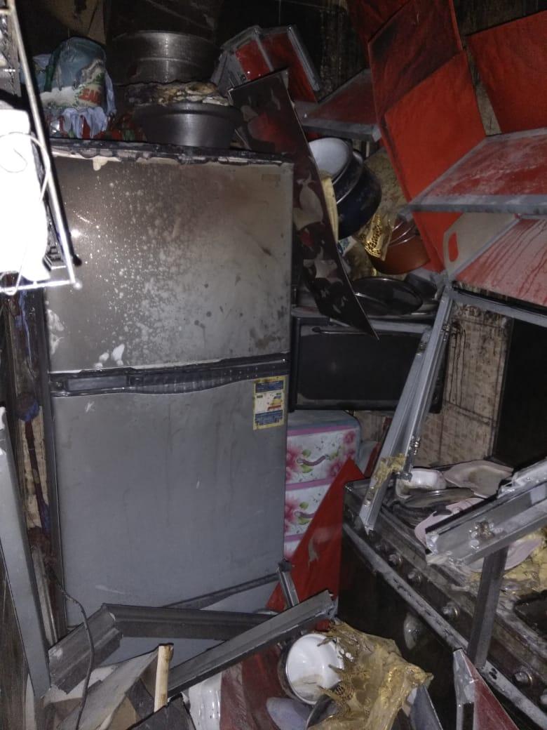الحريق التهم محتويات المنزل بالكامل