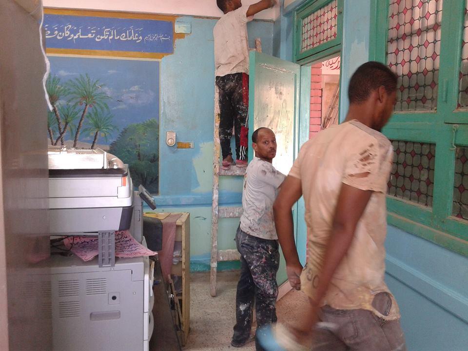 تطوير وصيانة المدارس قبل بدء العام الدراسى الجديد